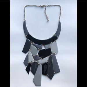 Jewelry - Grey, black and silver necklace(silver chain)